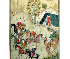 hunting scene art paiting