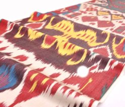 Silk ikat fabric