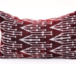 Maroon Velvet Turkish Pillow Case