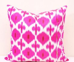 Pink Ikat Pillow Cover
