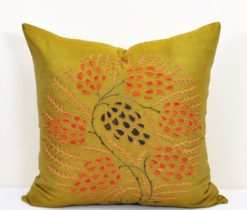 Olive decorative pillow, Eclectic Olive Decor Chic Bohemian Pillow