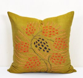 Eclectic Olive Bohemian Pillow