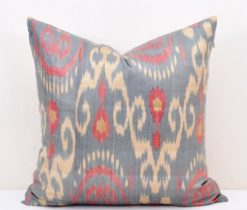 Dark Gray Silk Pillow