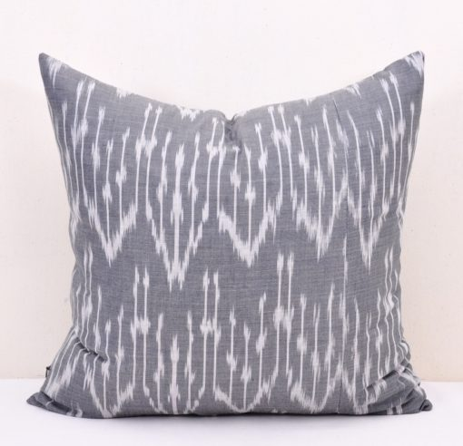 Gray Pillow-Cotton Cushion