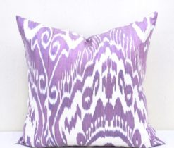 Violet Accent Ikat Pillow
