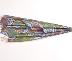 Maori Design Pure Silk Scraf Wrap Green Shaded Shawl, Green silk scarf