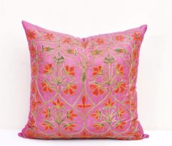 Magenta Suzani Embroidery Pillow