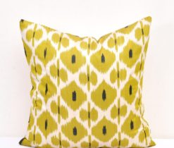 Yellow Green Ikat Cushion