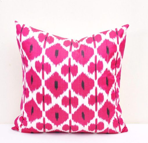 Square Pink Throw Pillow