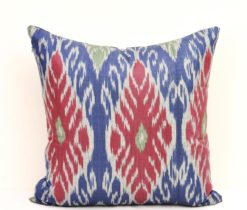 Blue Silk Cushion Cover