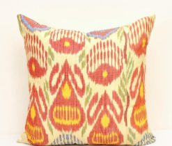 Colourful Throw Ikat Pillow
