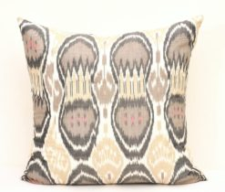 Dim Gray Dot Designer Ikat Bed Pillow