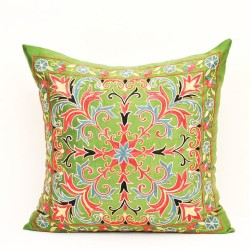lime green pillow silk