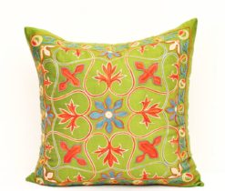 Green suzani pillow, Handpicked Decor Accent Green Suzani Pillow