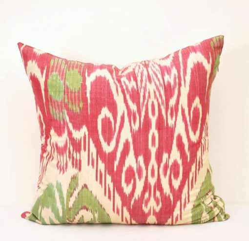Silk Ikat Pillow Cover