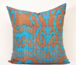 Blue Throw Ikat Pillow