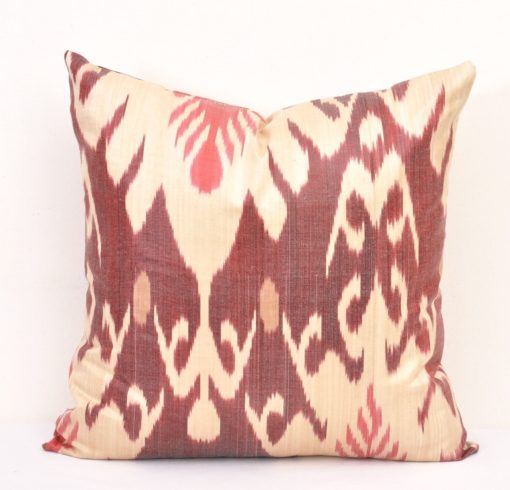 Fire Brick Ikat Pillow