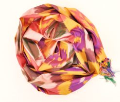 Ikat Mulberry Colorful Silk Scarf, silk ikat scarves