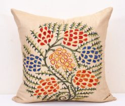 Uzbek Grapes embroidery pillow