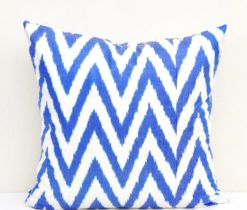 Blue Zigzag Design Pillow