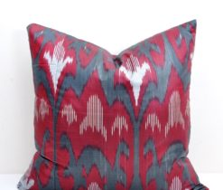 Indian Red Silk Pillow