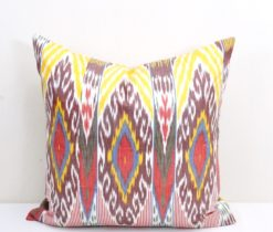 Decorative Silk Ikat Pillow