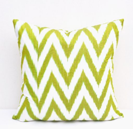 Green White Chevron Pillow