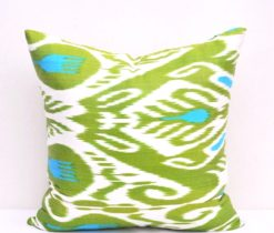 """Green Forest"" Silk Cushions"