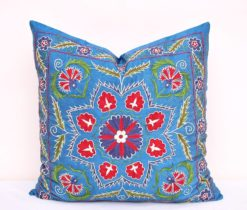 Steel Blue Suzani Cushion