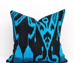 Blue Black Decorative Pillow