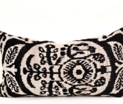 Comfortable Velvet Ikat Pillow Case