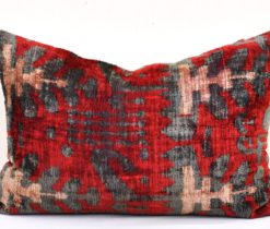 Decorative Throw Accent Velvet Cushion, velvet over dyed pillow
