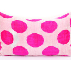 Pink Polka Dot Designer Pillow Cover