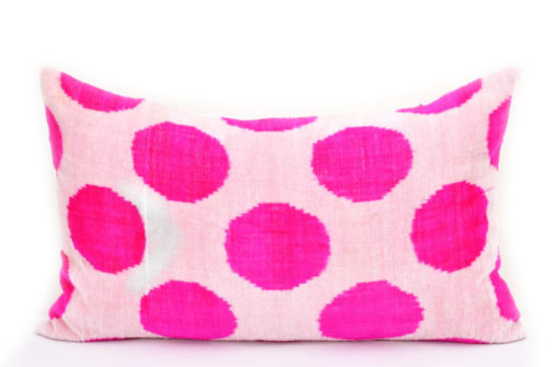 Pink Polka Pillow Cover