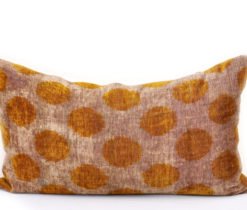 Silk Velvet Handloom Polka Dots Pillow