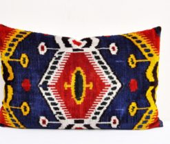 Decorative Velvet Ikat Pillow