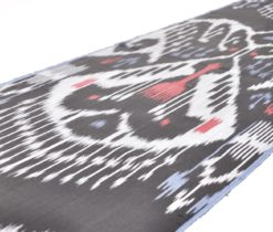 black ikat designer fabric