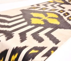 black yellow ikat