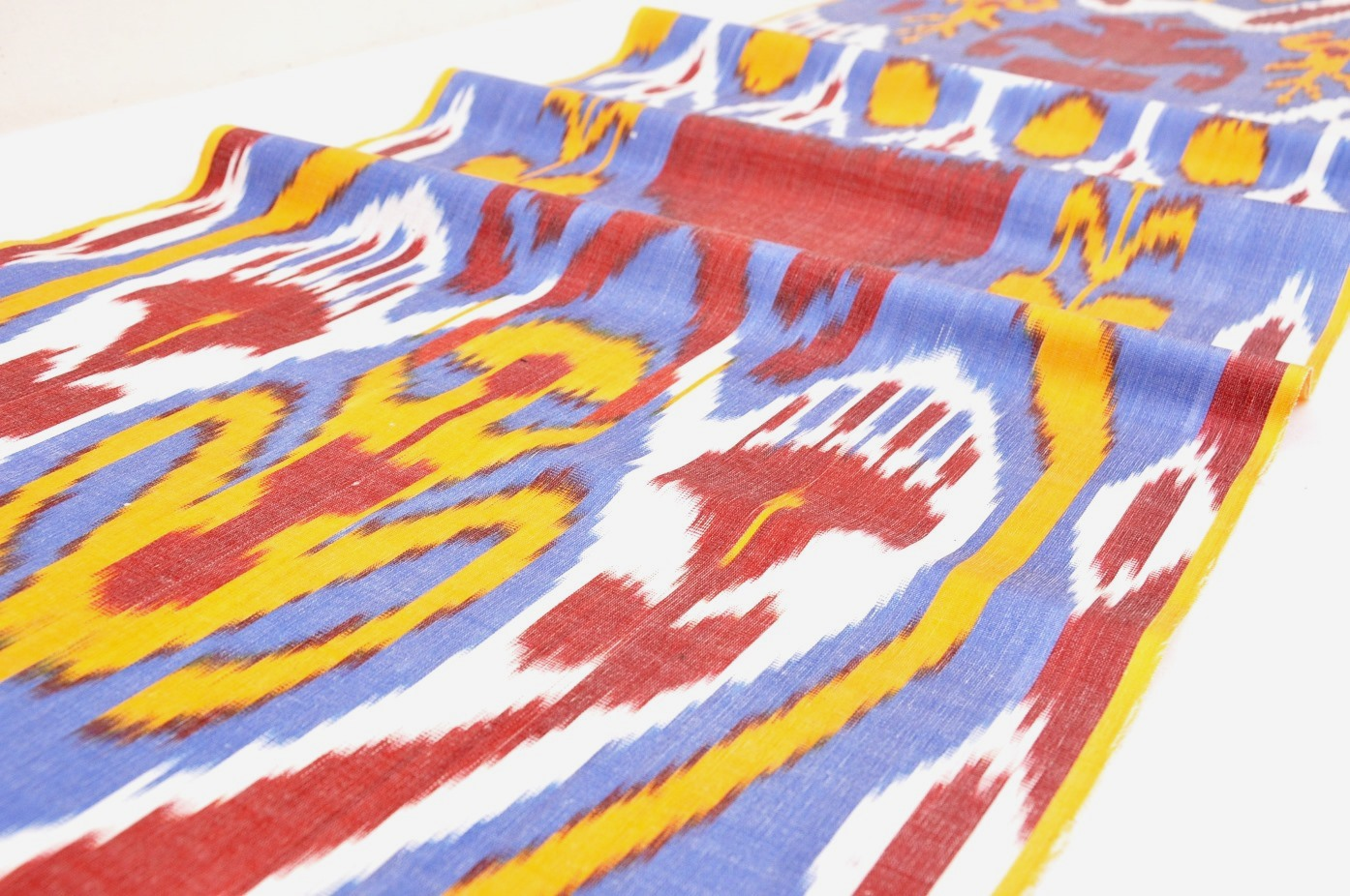 Quot Embroidered Design Quot Silk Ikat Fabric Alesouk Grand