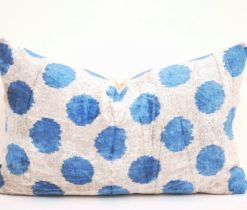Blue Polka Dots Pillow