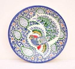Blue ceramic tray
