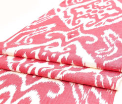 red ikat pillow
