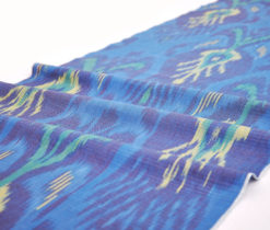 Blue cotton ikat fabric