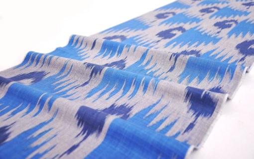 Aesthetic Cotton Ikat Fabric By The Yard
