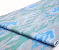 Abstracted Tree Cotton Upholstery Ikat Fabric