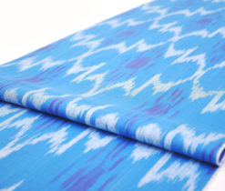 sky blue ikat fabric