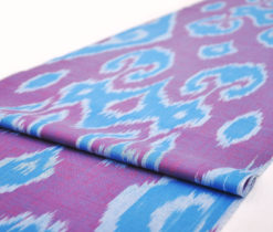 "Cotton ikat natural fabric ""Millennial"""