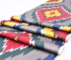 grey ikat fabric