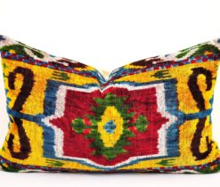Colorful Handwoven Ikat Pillow