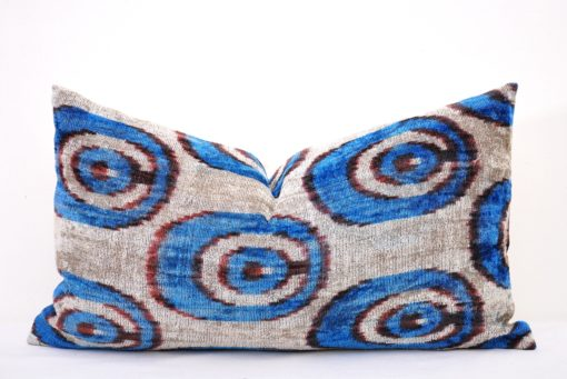 24x14 Ornament Blue Gray Couch Pillow